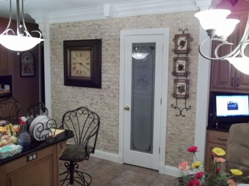 """ Tile enhances an entry way"""