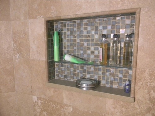 How to Install a Tile Shelf in a Bathroom Shower | eHow.com